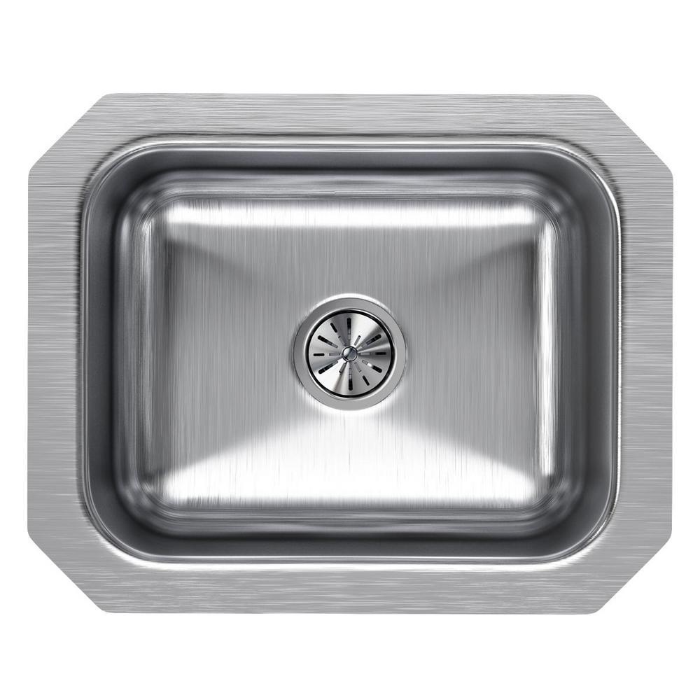 Elkay Lustertone Undermount Stainless Steel 15 In Bar Sink Eluh129