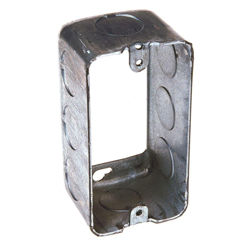 1-7/8 in. Deep Single Gang Drawn Handy Box Extension Ring with