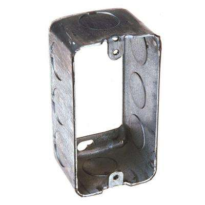 1-7/8 in. Deep Single Gang Drawn Handy Box Extension Ring with 1/2 in. KO's