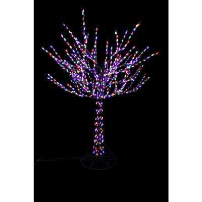 96 in led pre lit bare branch tree with multicolor lights