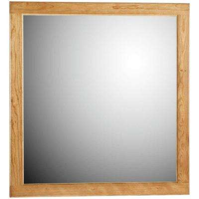Ultraline 30 in. W x .75 in. D x 32 in. H Framed Wall Mirror in Natural Alder