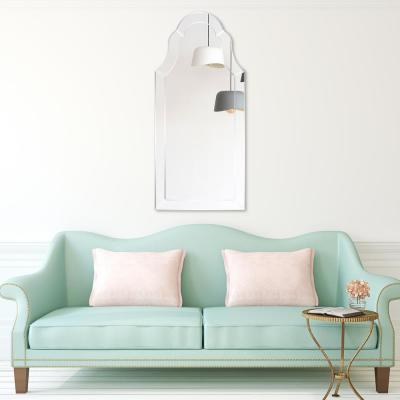 Large Arch Clear Beveled Glass Contemporary Mirror (44 in. H x 20 in. W)