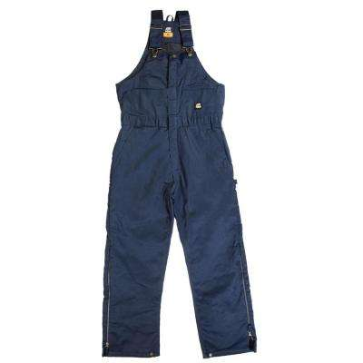 Men's 44 in. x 32 in. Black 100% Cotton Original Washed Insulated Bib Overall