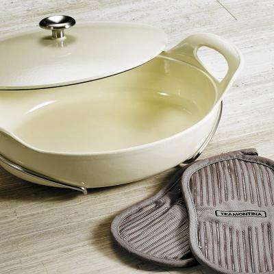Limited Editions Cast Iron 3.5 Qt. Covered Oval Braiser