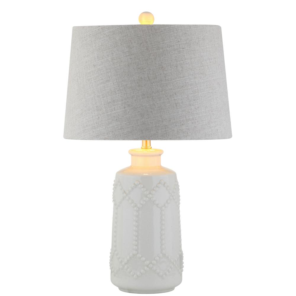 Alice 26 In Cream Ceramic Led Table Lamp Jyl4018a The Home Depot