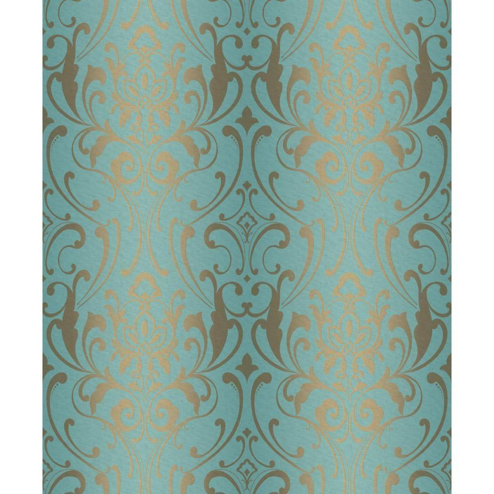 York Wallcoverings Glam Damask Wallpaper