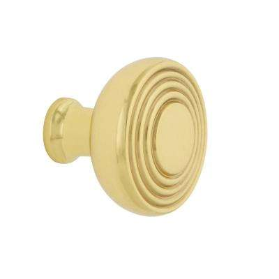 Deco 1-3/8 in. Polished Brass Cabinet Knob