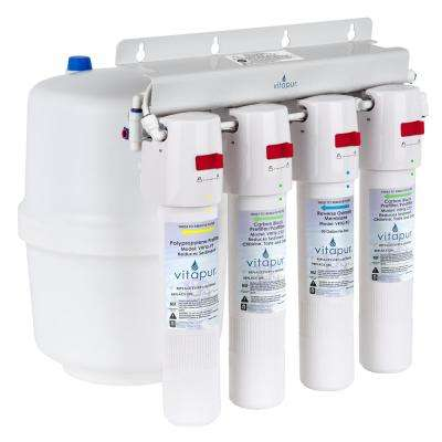 Four Stage 23.3 GPD Quick Connect Reverse Osmosis Water Treatment System