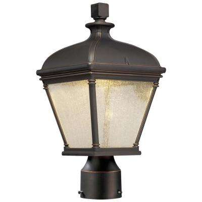 Lauriston Manor 1-Light Oil-Rubbed Bronze Outdoor Post Lantern