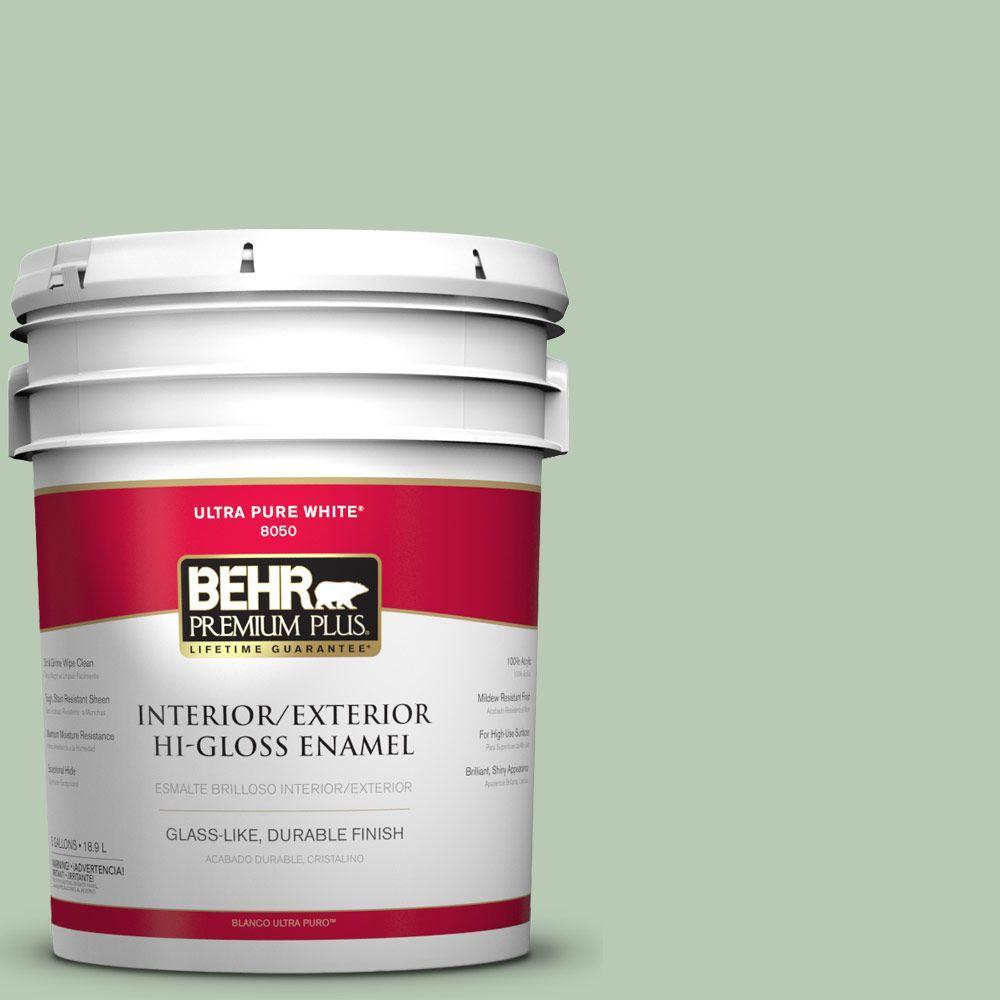 5-gal. #S400-3 Healing Aloe Hi-Gloss Enamel Interior/Exterior Paint