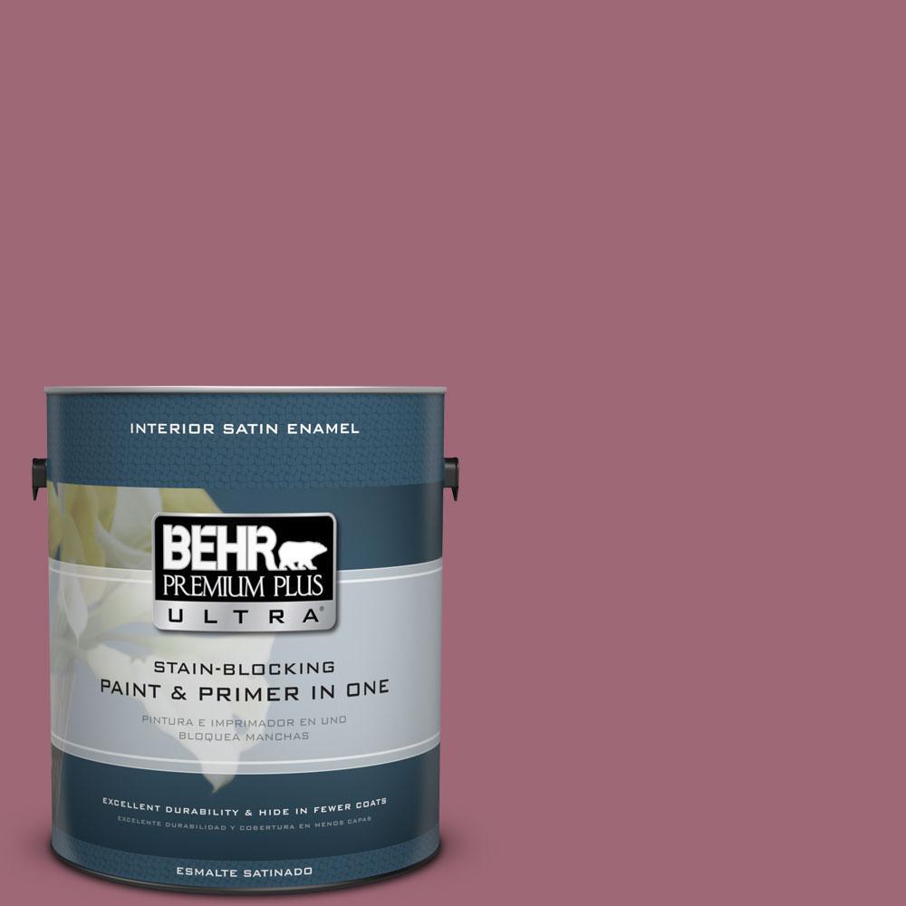 BEHR Premium Plus Ultra 1-gal. #100D-5 Berries and Cream Satin Enamel Interior Paint