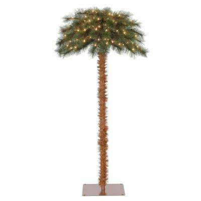5 ft. Pre-Lit Artificial Tropical Christmas Palm Tree with White Lights