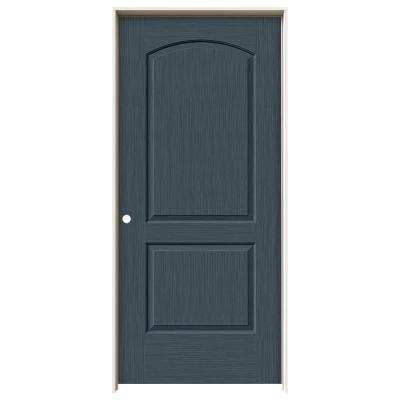36 in. x 80 in. Continental Denim Stain Right-Hand Solid Core Molded Composite MDF Single Prehung Interior Door