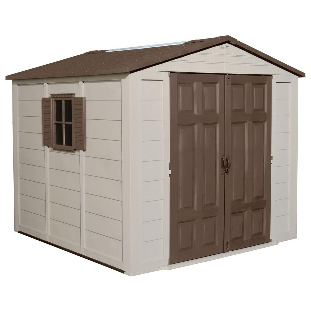 Suncast 7.5 ft. x 7.5 ft. Resin Storage Shed
