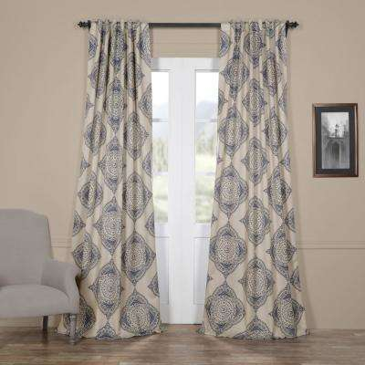 semi opaque henna blue blackout curtain 50 in w x 96 in - Thermal Curtains