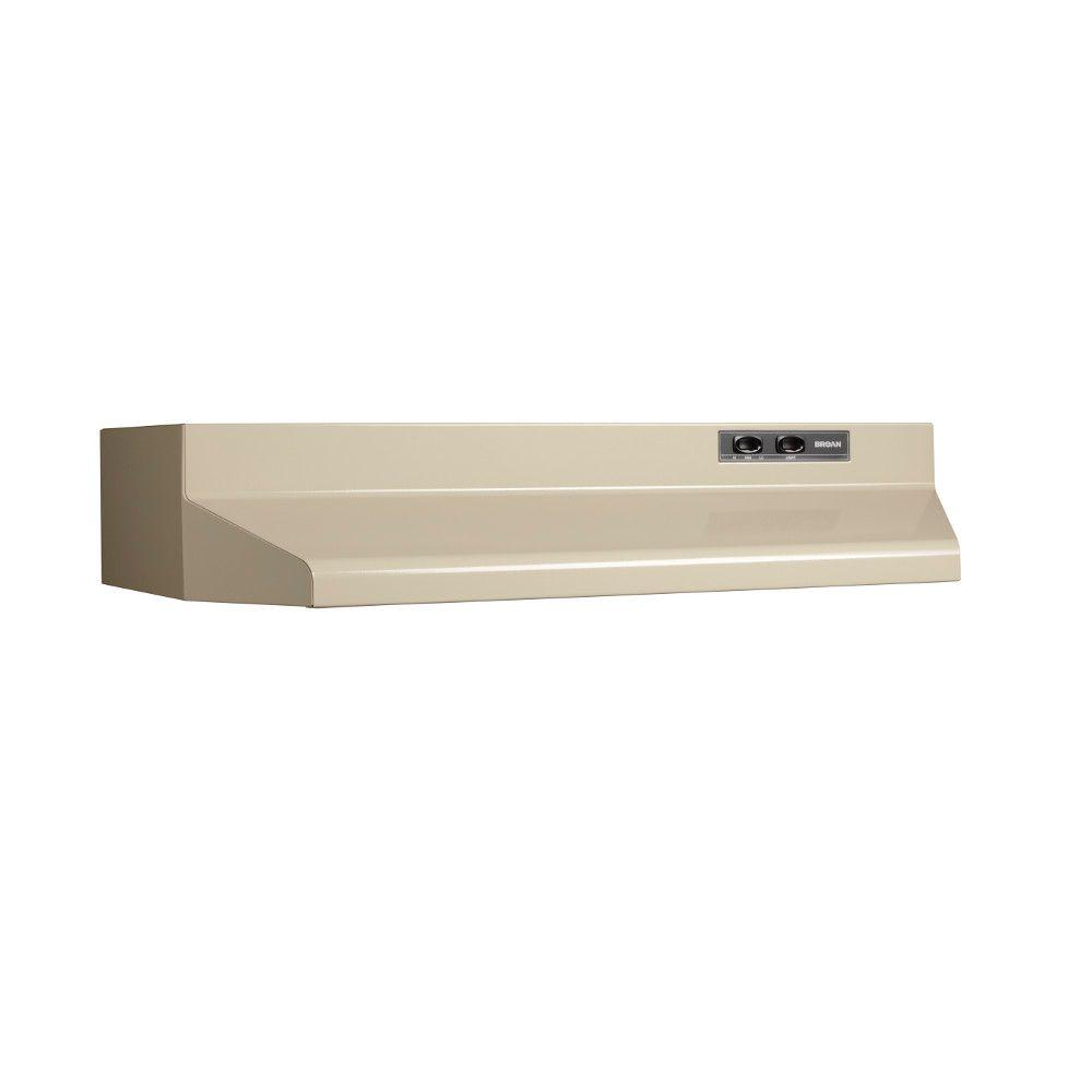 Broan 42000 Series 30 in. Range Hood with Damper in Almond