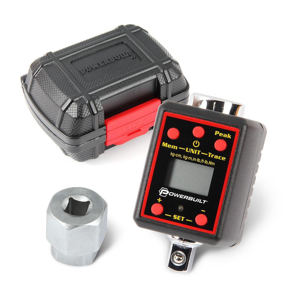 Powerbuilt 1/2 in. Drive Digital Torque Adapter