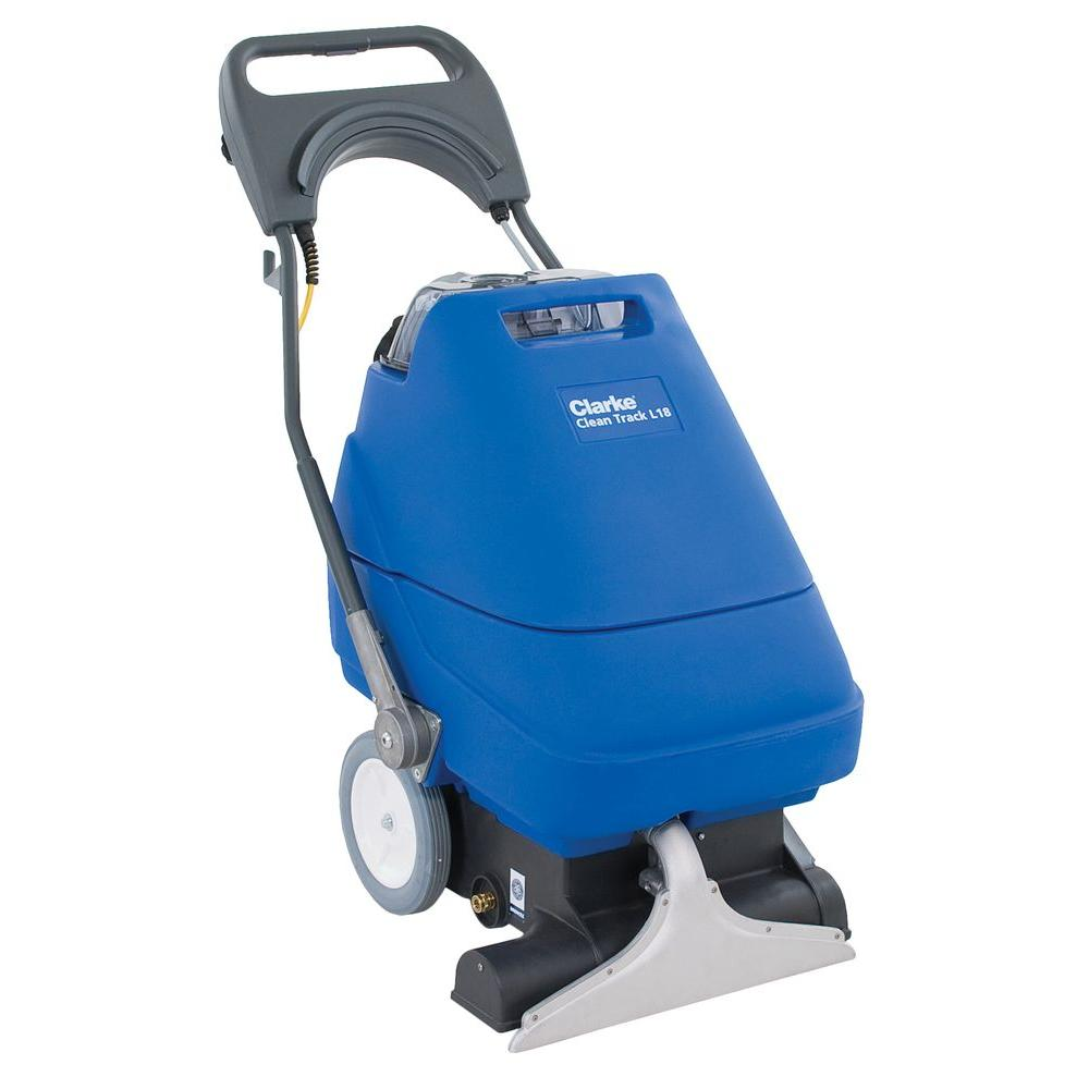clarke clean track l18 commercial self contained upright carpet cleaner 56382724 the home depot. Black Bedroom Furniture Sets. Home Design Ideas