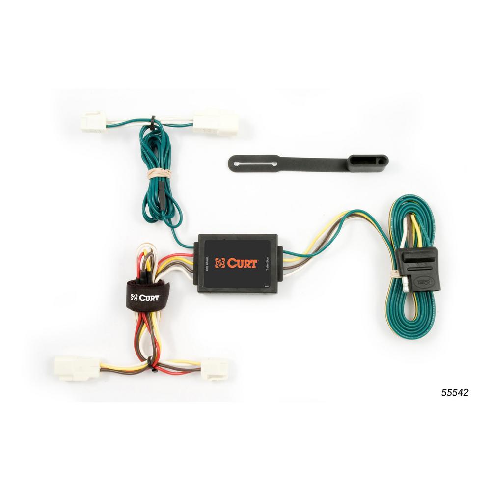 Enjoyable Curt Custom Wiring Harness 4 Way Flat Output 55542 The Home Depot Wiring Digital Resources Funapmognl