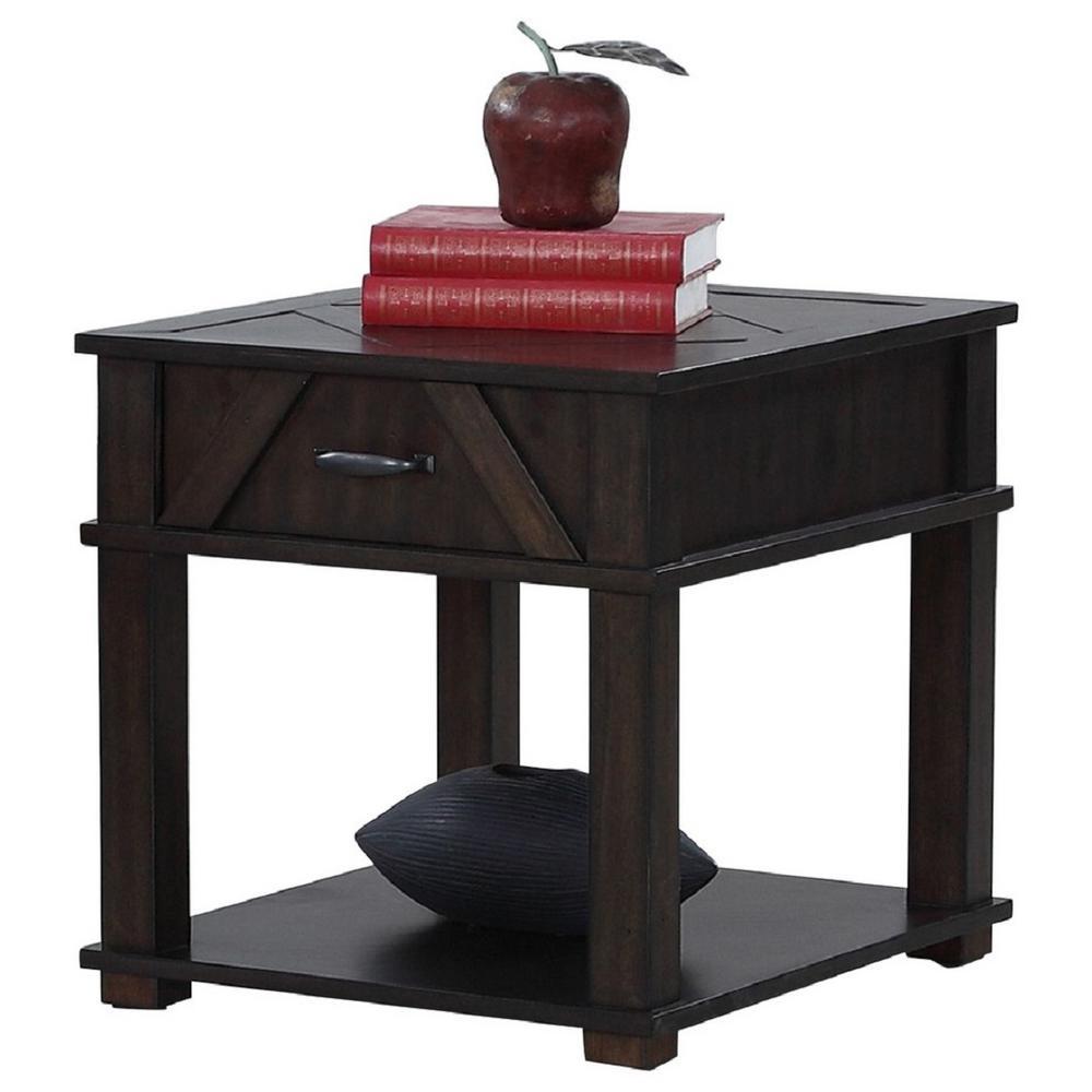 Foxcroft Dark Pine Rectangular End Table