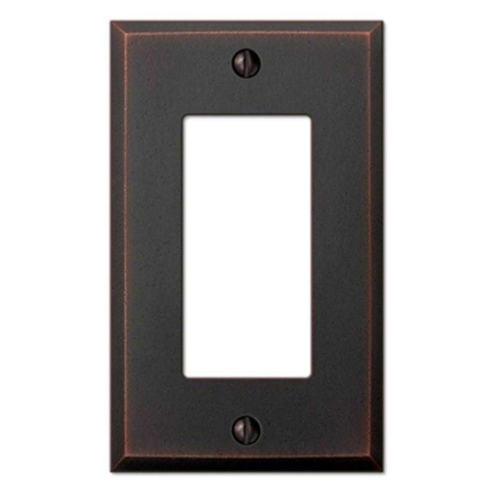 Manhattan 1 Decora Wall Plate - Aged Bronze