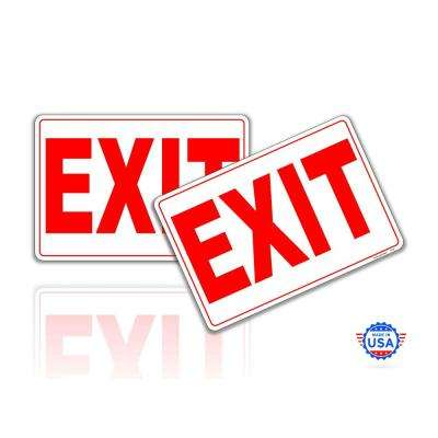 7 in. x 10 in.Exit Only Sign Stickers Reflective UV Protected Decals (2-Piecs)