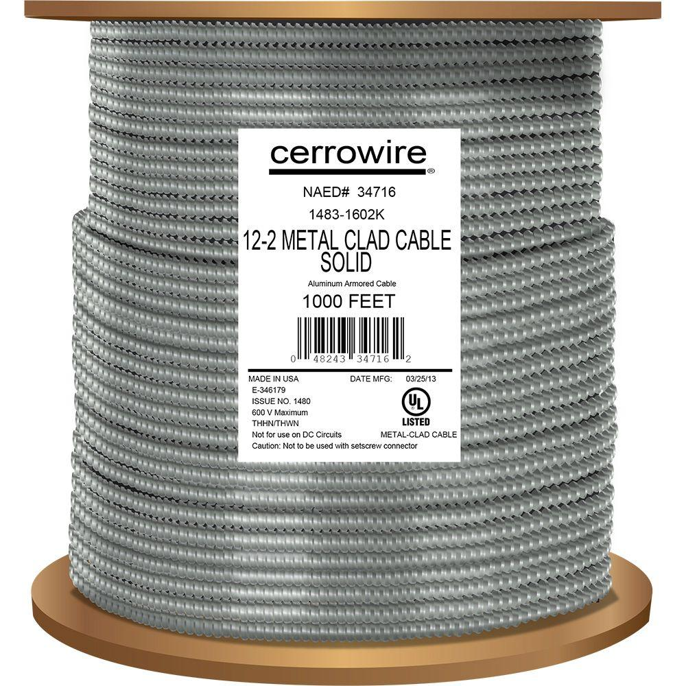 Cerrowire 1000 ft. RL 12-2 MC Aluminum Cable