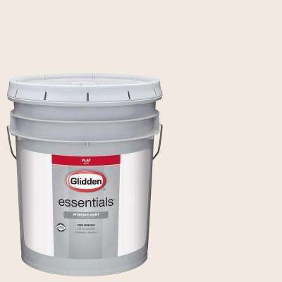 5 gal. #HDGWN03 Antique White Flat Interior Paint