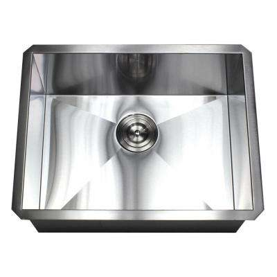 Undermount 16-Gauge Stainless Steel 23 in. x 18 in. x 10 in. Deep Single Bowl Zero Radius Kitchen Sink