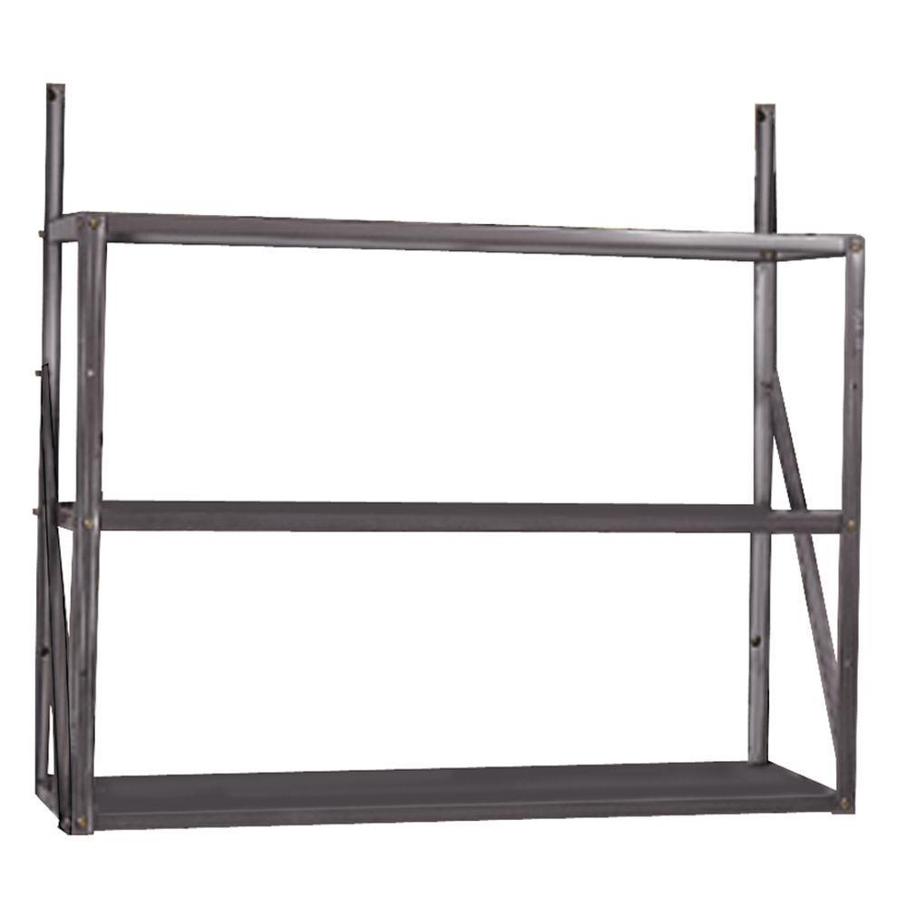 3-Tier Shelf, 30.25 in. H x 33.25 in. W x 10.75 in. D, Galvanized Steel