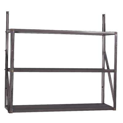 3-Tier Shelf, 30.25 in. H x 33.25 in. W x 10.75 in. D, Galvanized Steel