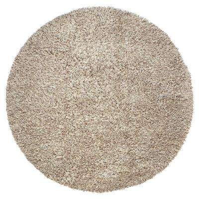 Ultimate Shag Cookies/Cream 8 ft. Round Area Rug