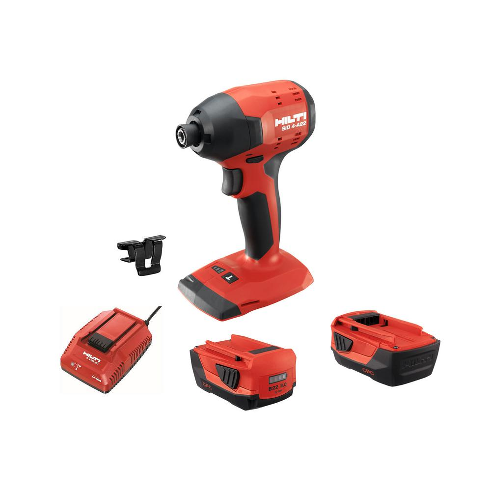 22-Volt SID 4 Advanced Lithium-Ion Compact Cordless Brushless Impact Driver with