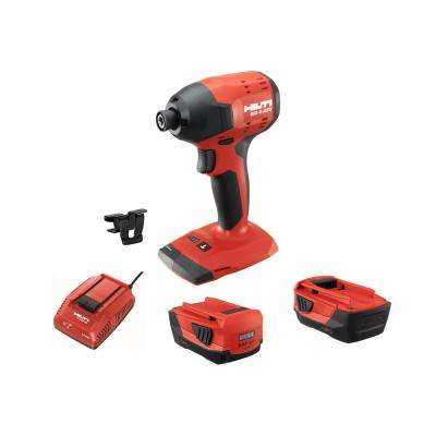 22-Volt SID 4 Advanced Lithium-Ion Compact Cordless Brushless Impact Driver with (2 )3.0 batteries and Charger