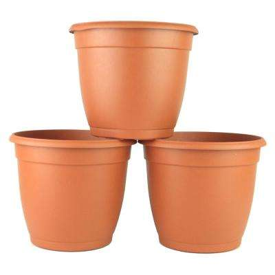 Dia Decorative Terra Cotta Plastic Pot 3 Pack