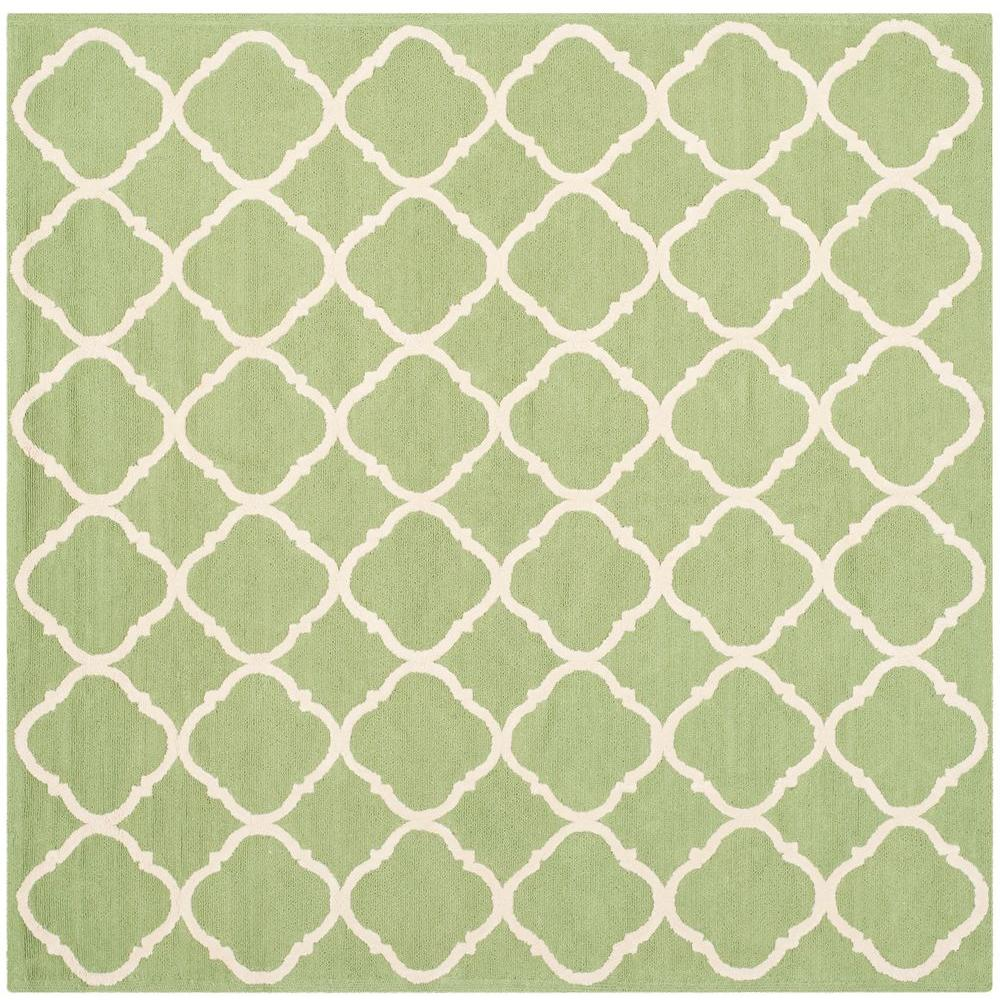 Newport Green/Ivory 5 ft. x 5 ft. Square Area Rug