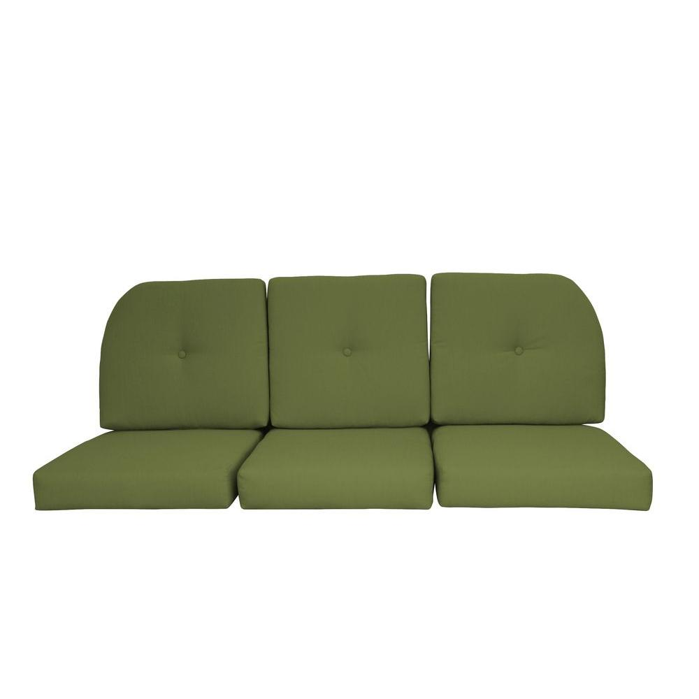 Sunbrella Kiwi 6 Piece Wicker Outdoor Sofa Cushion Set