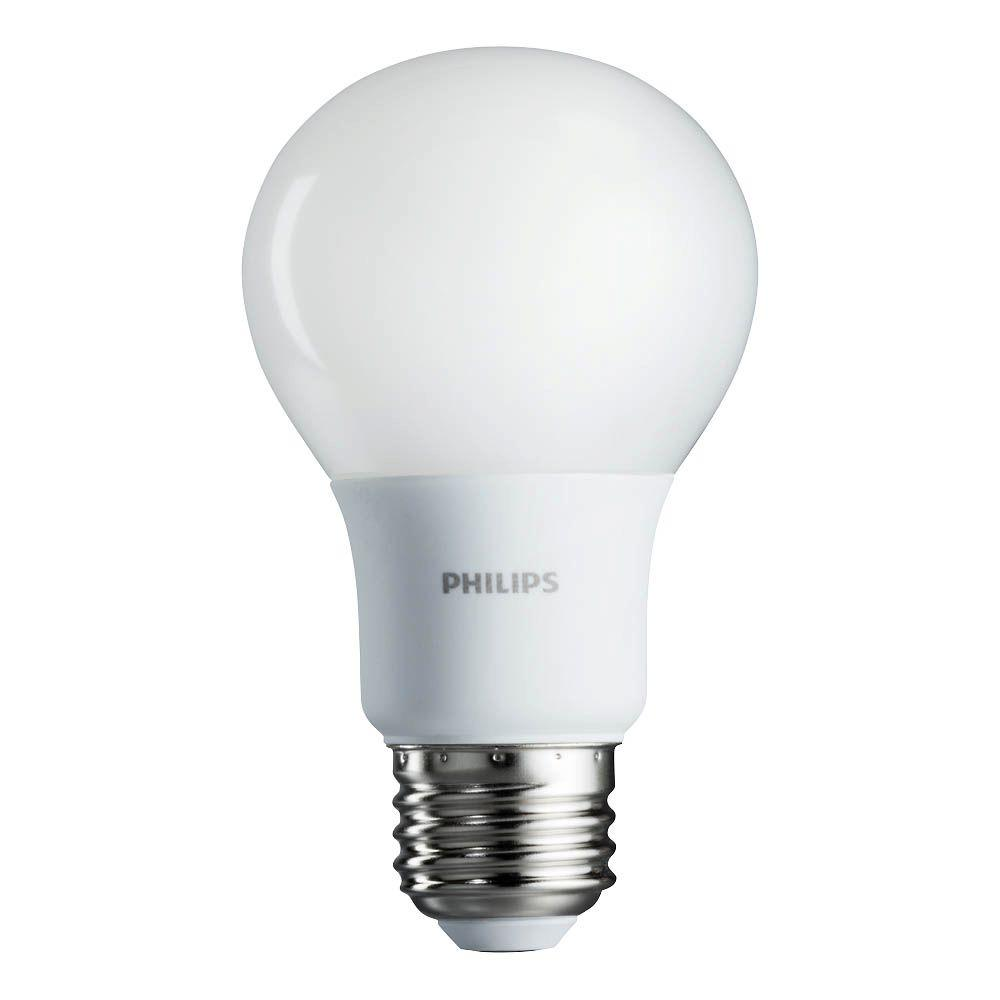 Philips 60w equivalent soft white a19 led light bulb 4 pack 461129 the home depot Household led light bulbs