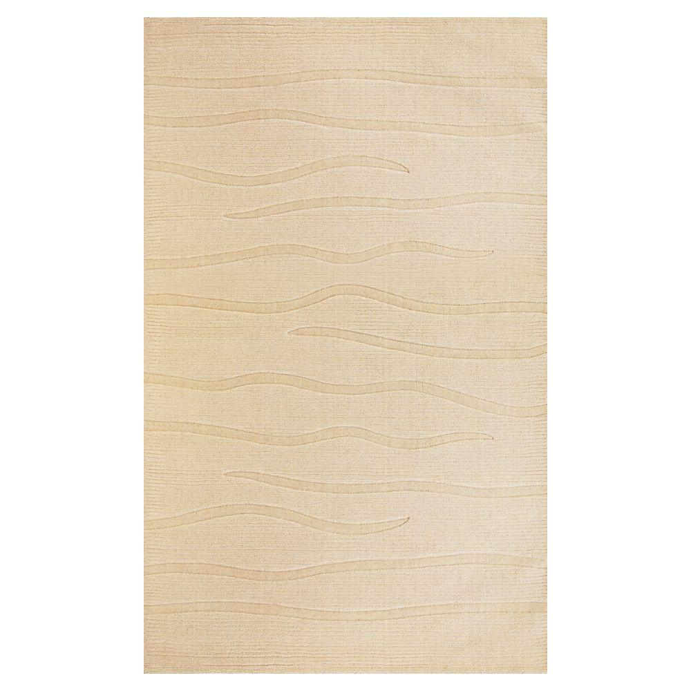 Kas Rugs Subtle Texture Ivory 3 ft. 3 in. x 5 ft. 3 in. Area Rug