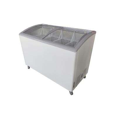 10.9 cu. ft. Chest Freezer with Curved Glass Top in White
