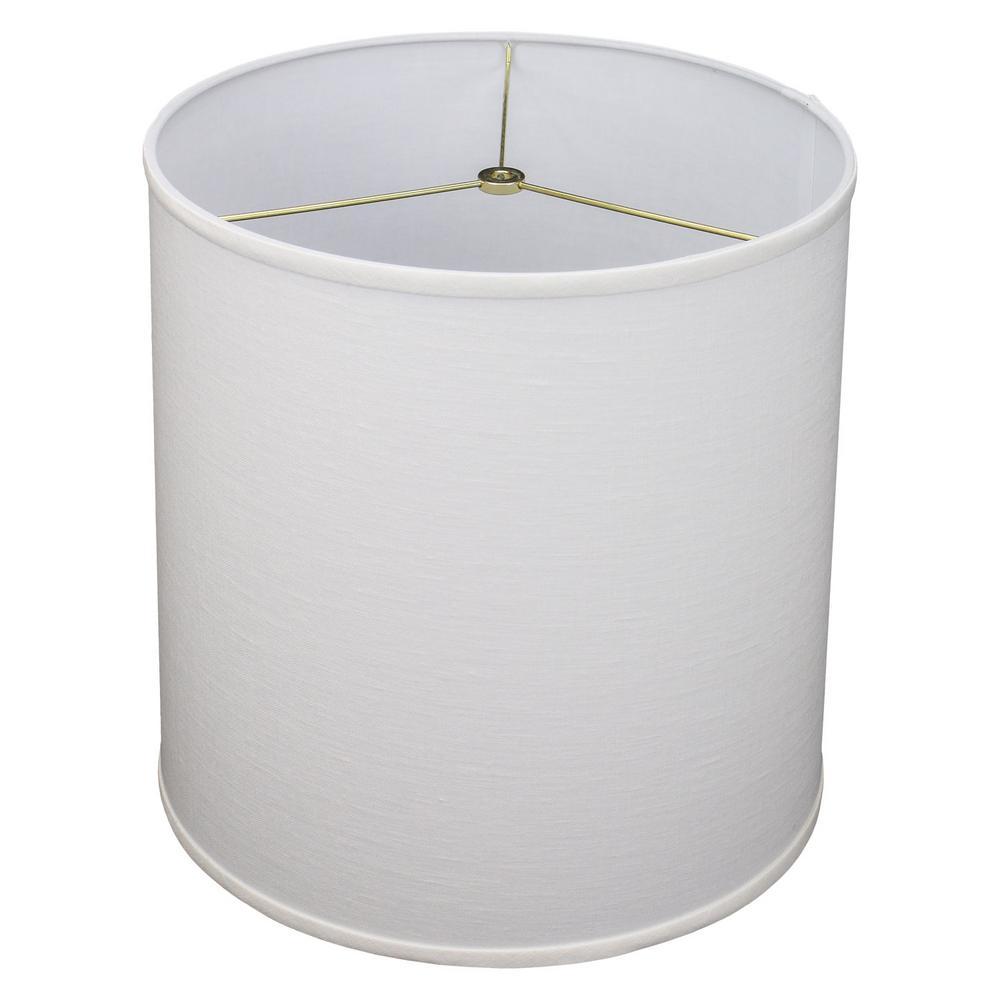 14 in. Top Diameter x 15 in. Bottom Diameter x 15 in. Slant Designer Linen Off White Empire Lamp Shade