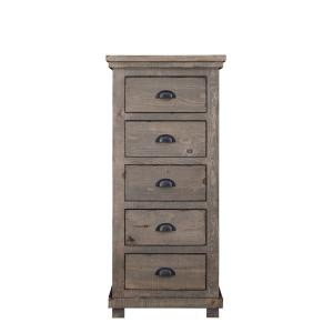 Willow 5 Drawer Weathered Gray Lingerie Chest of Drawers