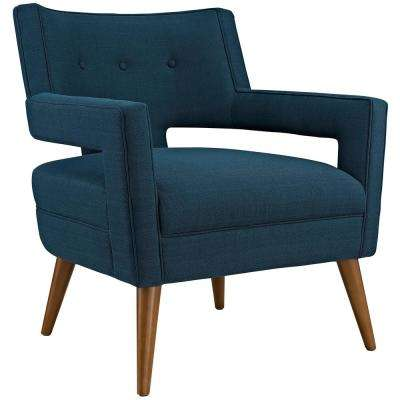 Azure Sheer Upholstered Fabric Arm Chair
