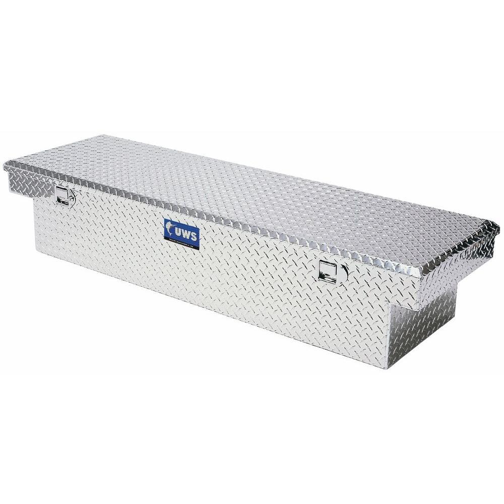 60 in. Aluminum Single Lid Crossover Angled Deep Tool Box