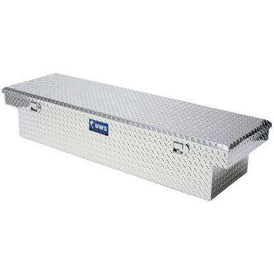 63 in. Aluminum Single Lid Crossover Deep Angled Tool Box with Low Profile