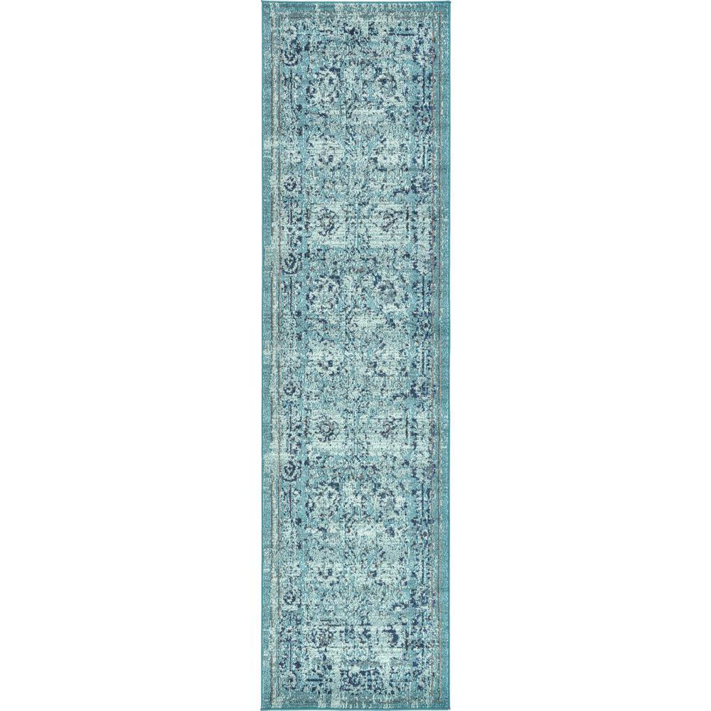 Palazzo Light Blue 2 ft. 7 x 10 ft. Runner