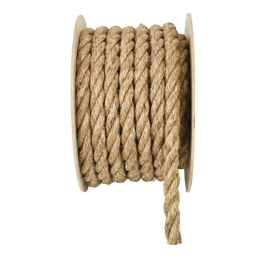 Everbilt 3/4 in. x 150 ft. Natural Twisted Manila Rope