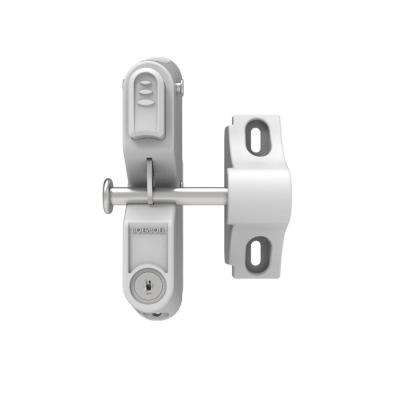 GardDog 12.5 in. x 3.25 in. x 8.125 in. Nylon/Stainless Steel White Locking Gravity Latch with 2-Sided Key Entry