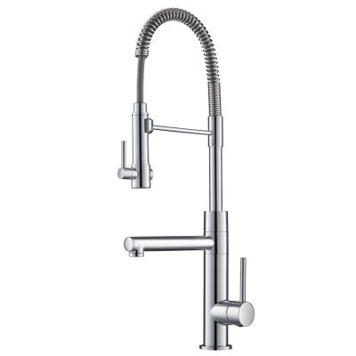 Artec Pro Single-Handle Pull-Down Sprayer Kitchen Faucet and Pot Filler in Chrome