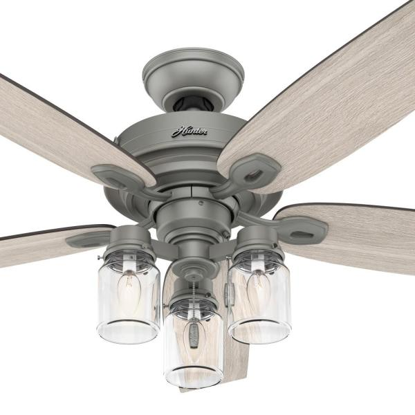 Hunter Crown Canyon 52 In Led Indoor, Home Depot Hunter 52 Inch Ceiling Fans